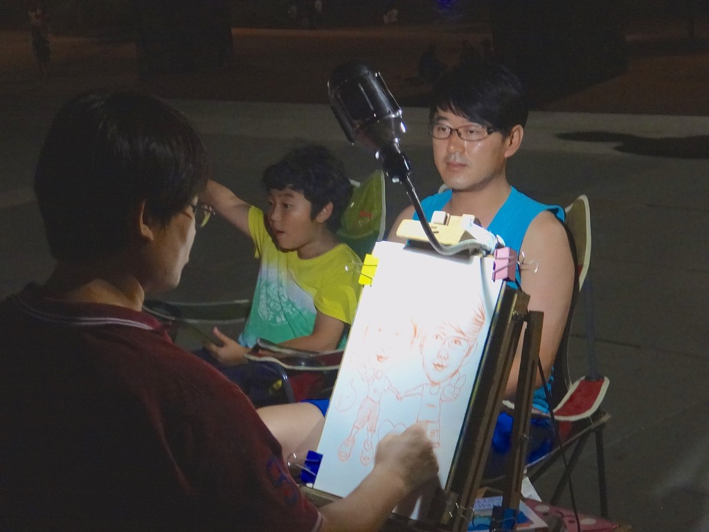 caricature at Hangang Park