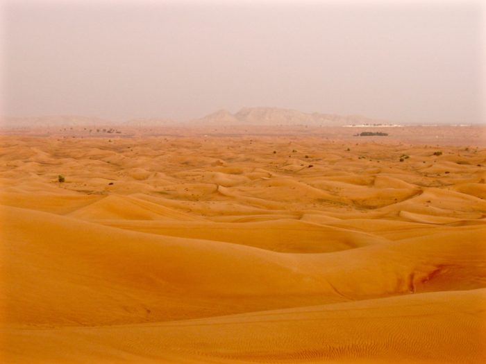 Sand dunes on Desert Safari