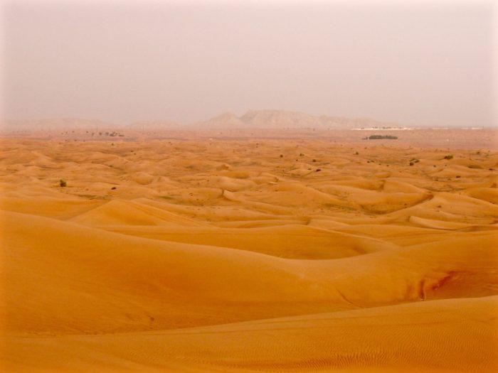 Sand dunes on Desert Safari